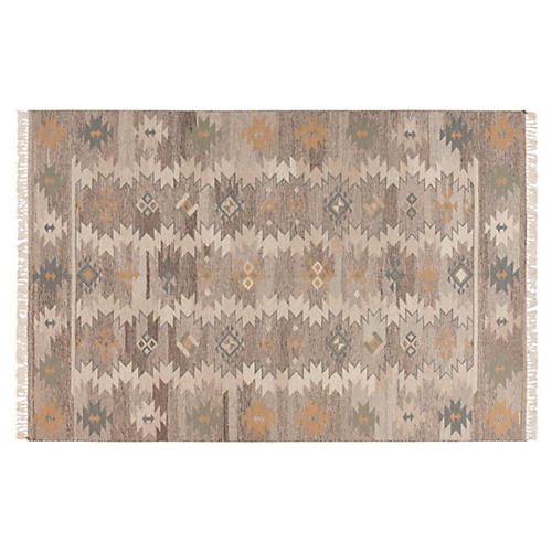 Katy Flat-Weave Rug, Oyster