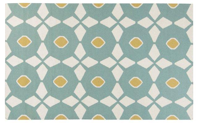 Eros Flat-Weave Rug, Slate Gray/Multi