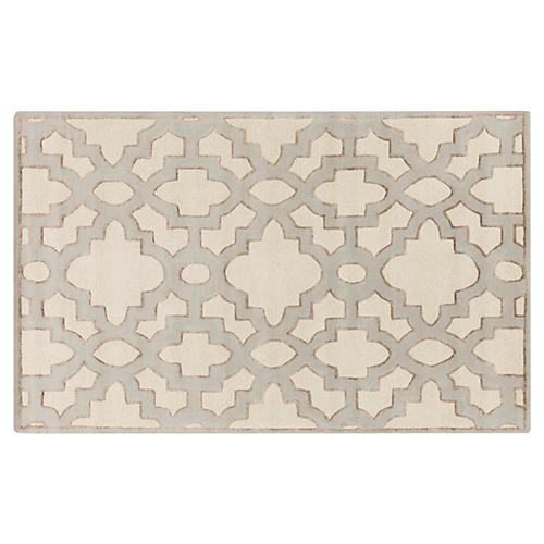 Delilah Rug, Antiqued White