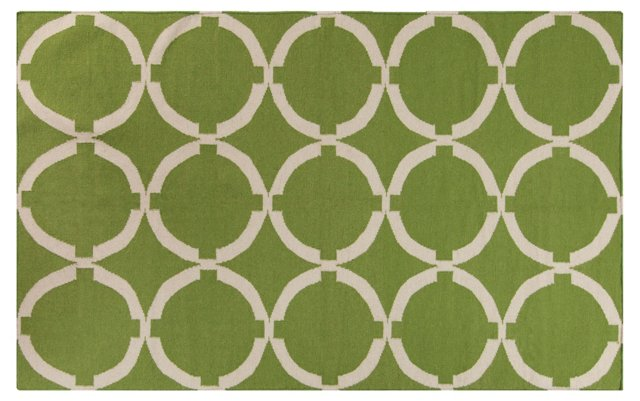 Dominic Flat-Weave Rug, Green