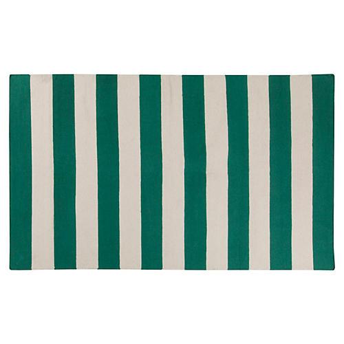 Hermie Flat-Weave Rug, Emerald