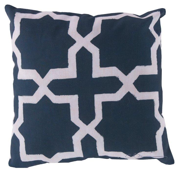 Moroccan 20x20 Pillow, Navy