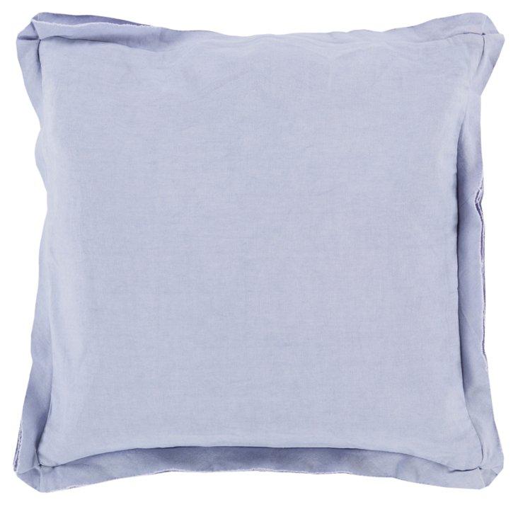 Soft 22x22 Cotton Pillow, Blue