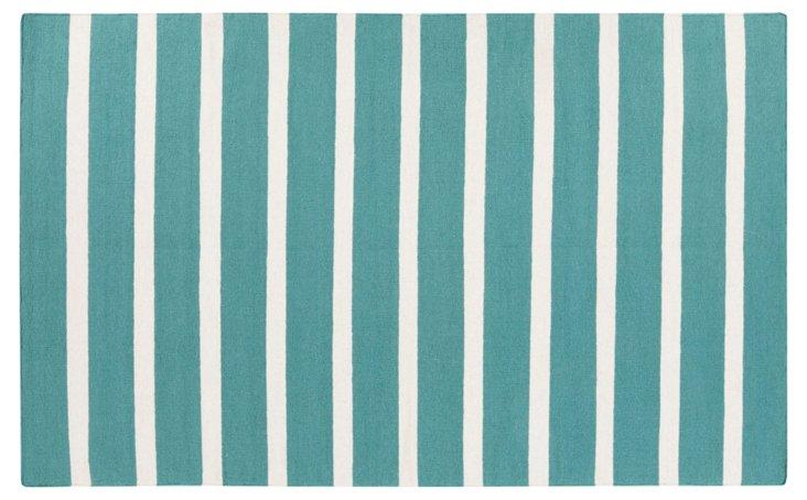 Eliza Flat-Weave Rug, Blue
