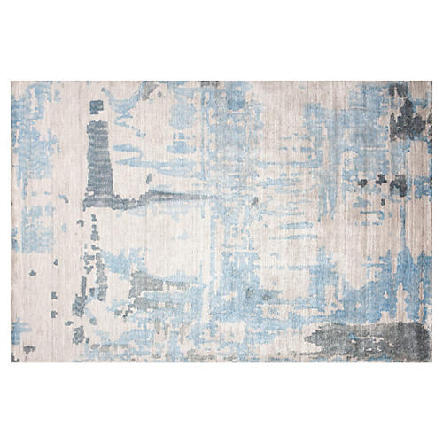 Tarim Rug, Neutral/Blue