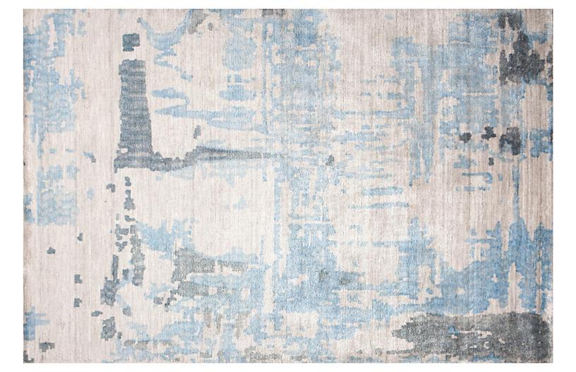 Tarim Rug, Neutral/Blue