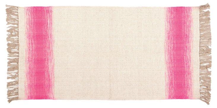 Shine Flat-Weave Rug, Pink