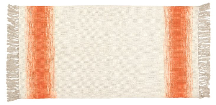 Shine Flat-Weave Rug, Orange