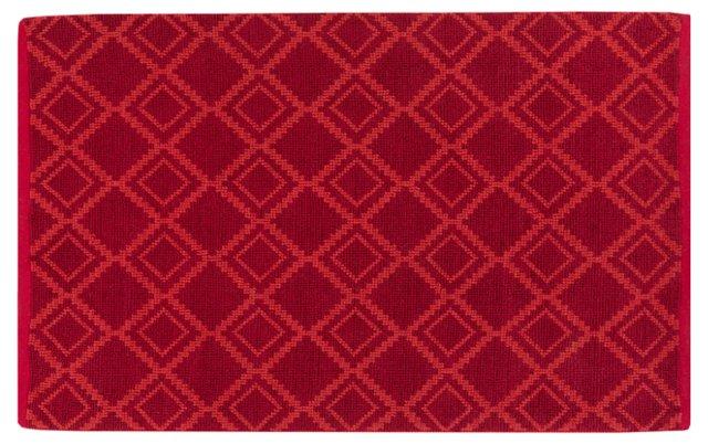 5'x8' Santiago Jute-Blend Rug, Red