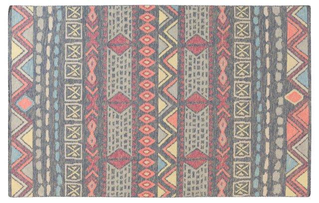 8'x11' Valles Flat-Weave Rug, Multi