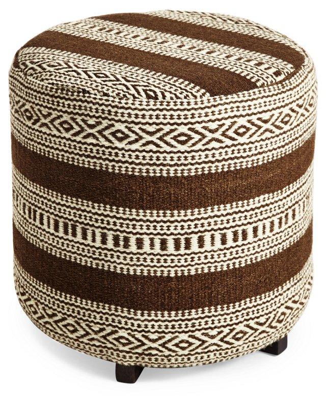 Swiss Wool Ottoman