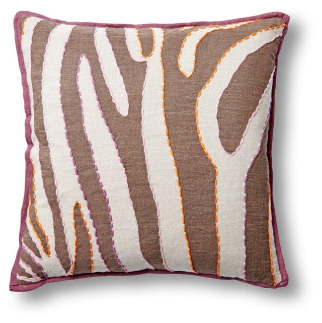 Shanna Linen Pillow, Orange