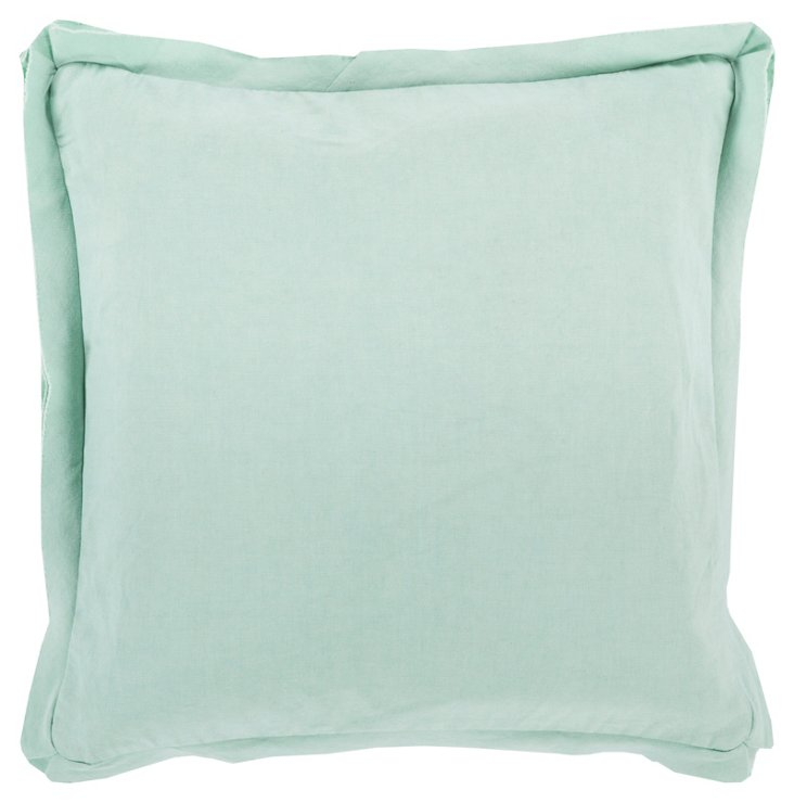 Ventura Cotton Pillow, Seafoam