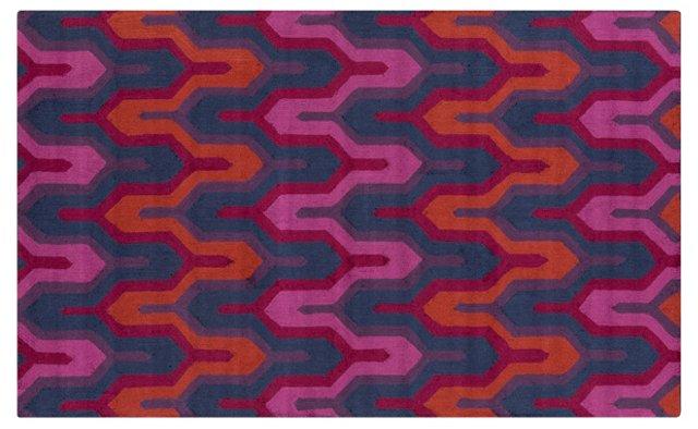 Burbank Rug, Red/Violet