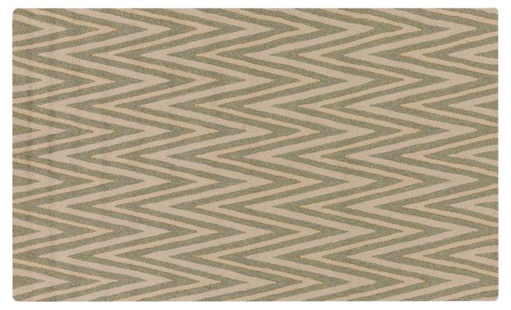 5'x8' Namada Rug, Green/Neutral