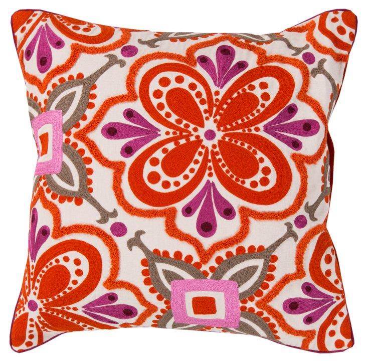 Liza 20x20 Cotton Pillow, Multi