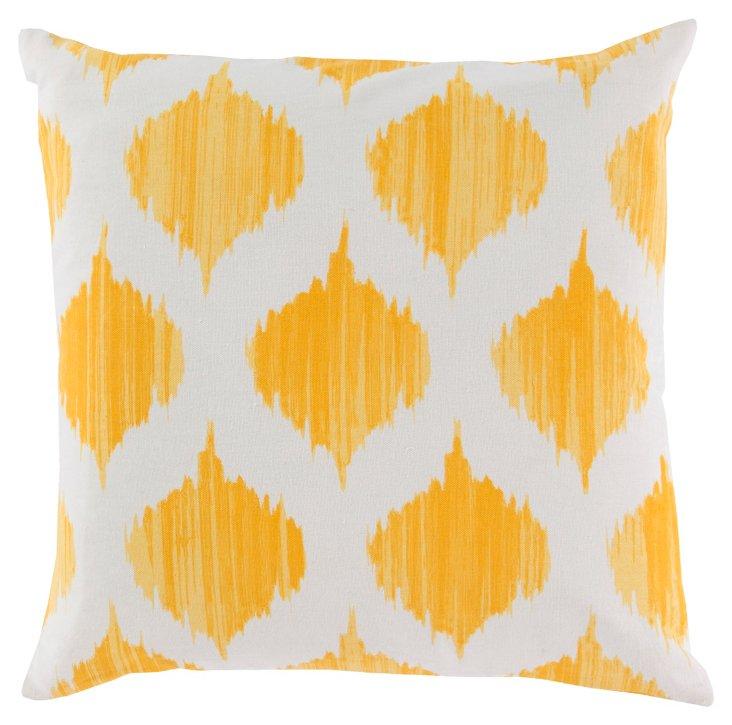 Ikat Cotton Pillow, Golden