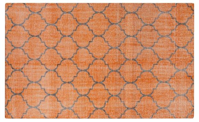 Zahra Flat-Weave Rug, Orange