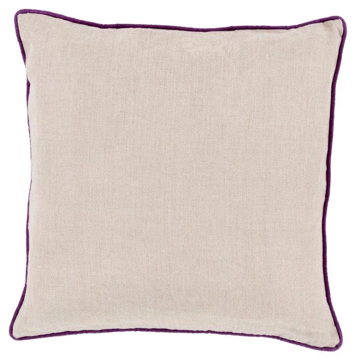 Shanna Linen Pillow, Purple