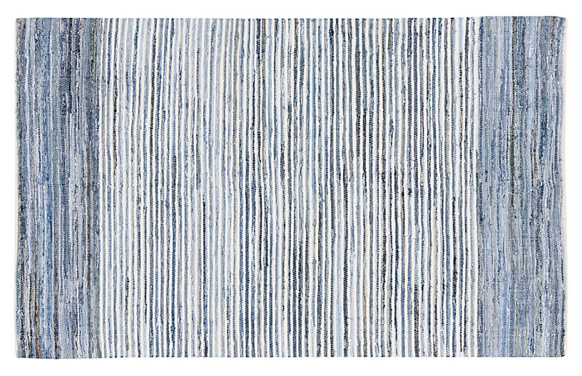 Denim Rug, Blue
