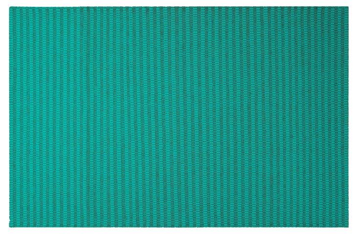 """3'3""""x5'3"""" Ravena Flat-Weave Rug, Green"""