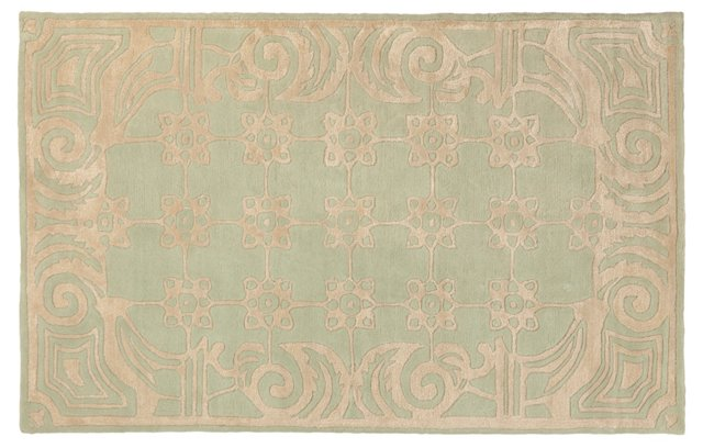Marais Rug, Neutral/Green
