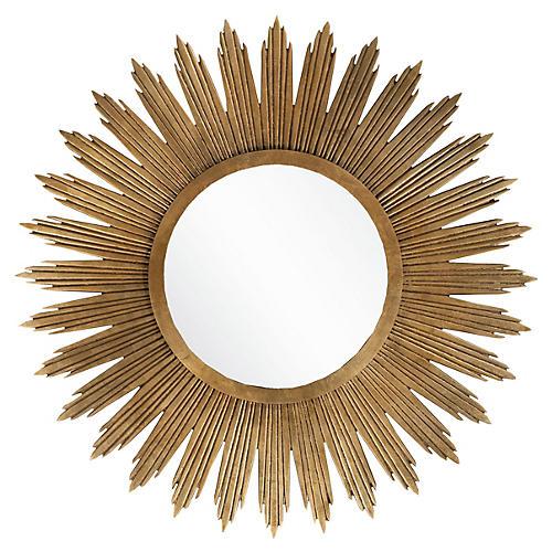 """Starburst 47"""" Oversize Mirror, Gold"""