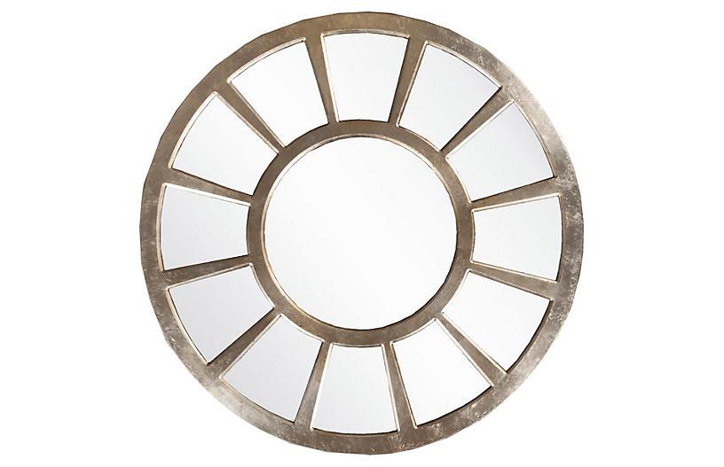 Regency Oversize Mirror, Silver