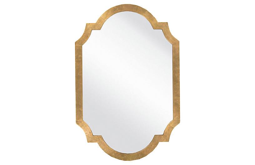 Quatrefoil Oversize Mirror, Gold