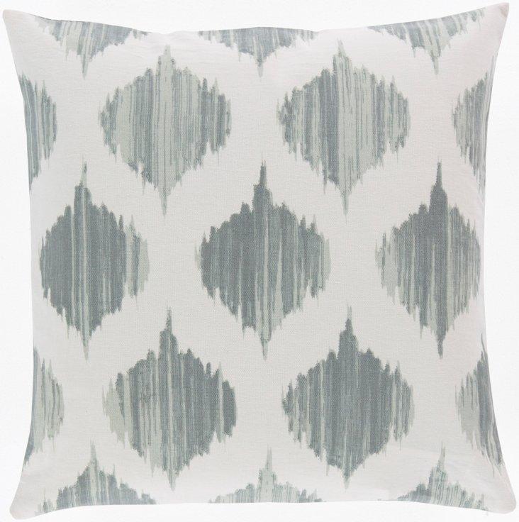 Dulcet 18x18 Cotton Pillow, Blue
