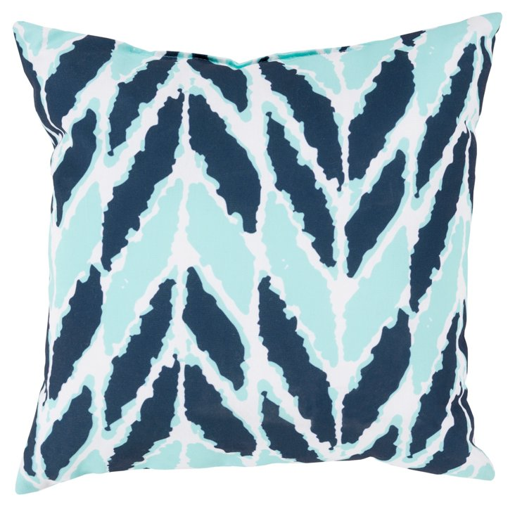Graphic 18x18 Pillow, Aqua