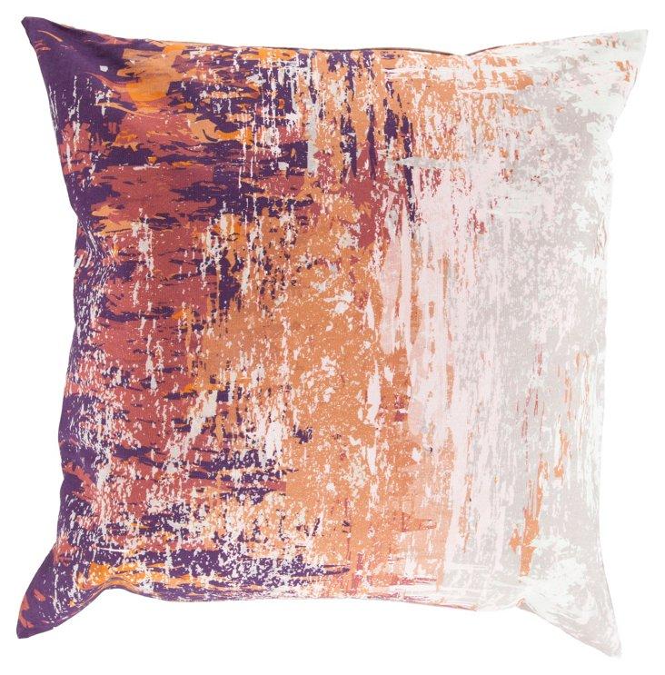 Splatter 18x18 Cotton Pillow, Multi