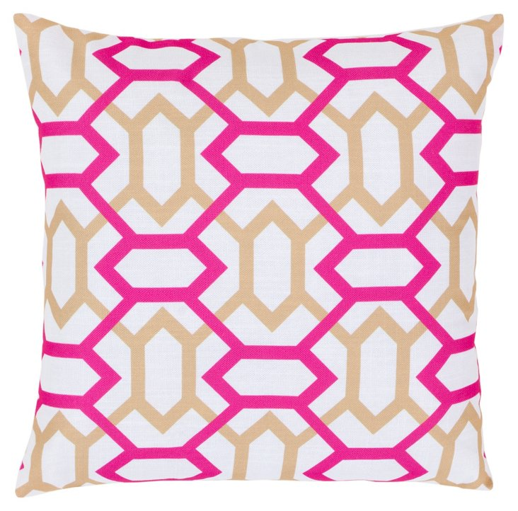 Linked Pillow, Rose
