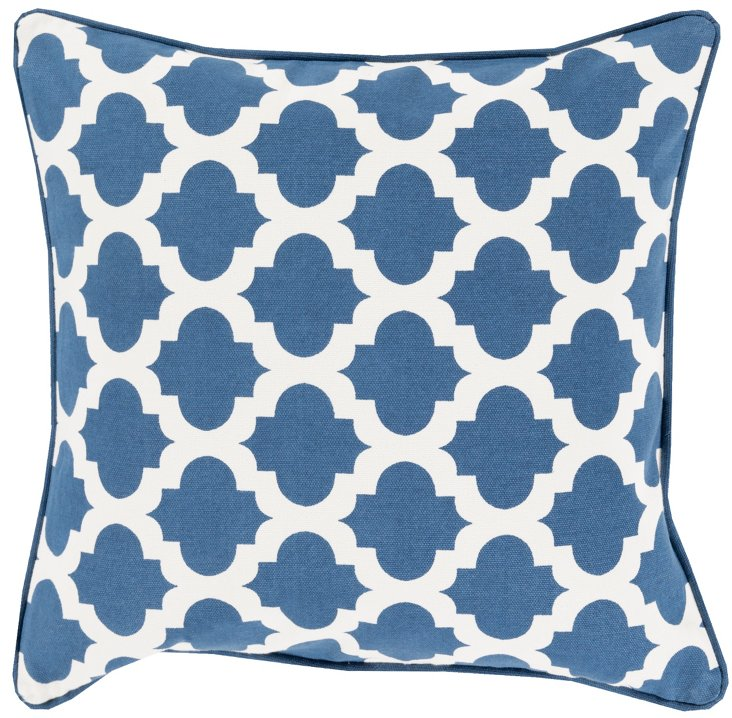 Shai Cotton Pillow, Navy