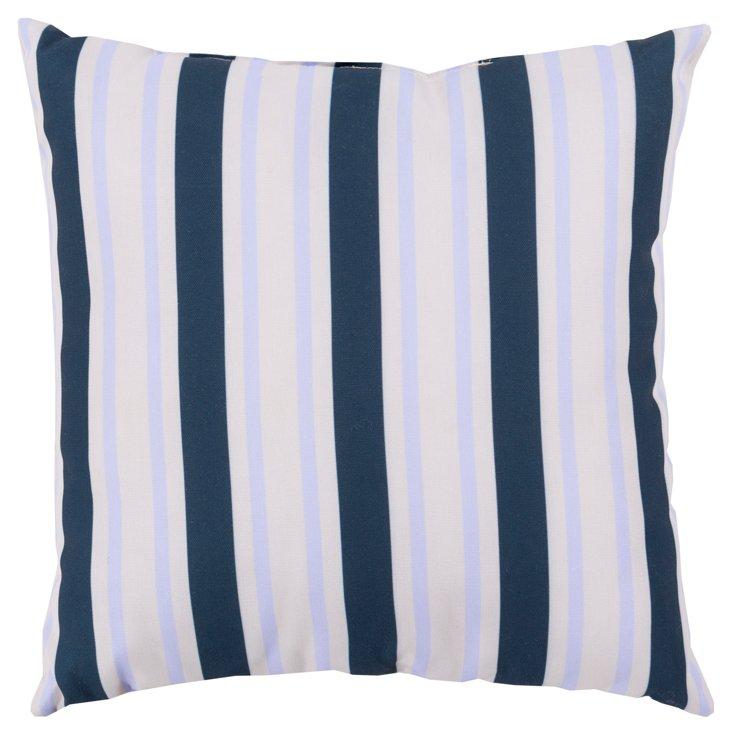 Stripes 20x20 Outdoor Pillow, Navy