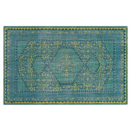 Veda Rug, Blue/Green