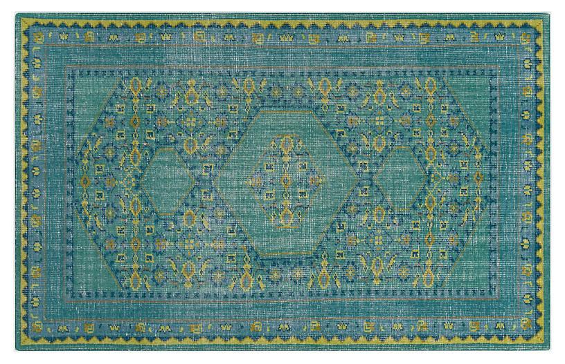 Veda Rug, Blue/Green