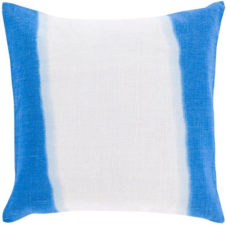 Stripe Linen Pillow, Blue