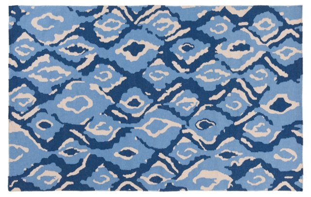 Calaveras Rug, Neutral/Blue