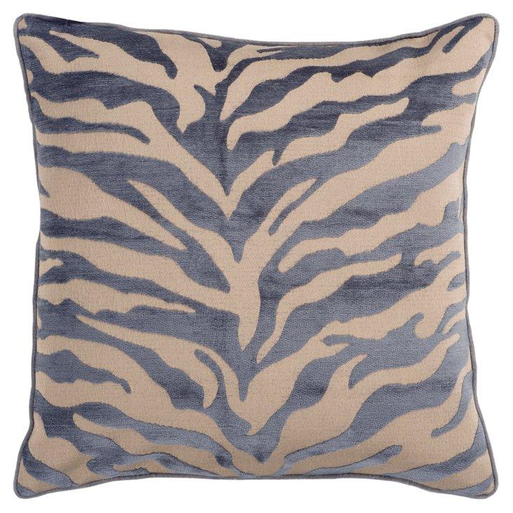 Zebra Pillow, Gray/Beige
