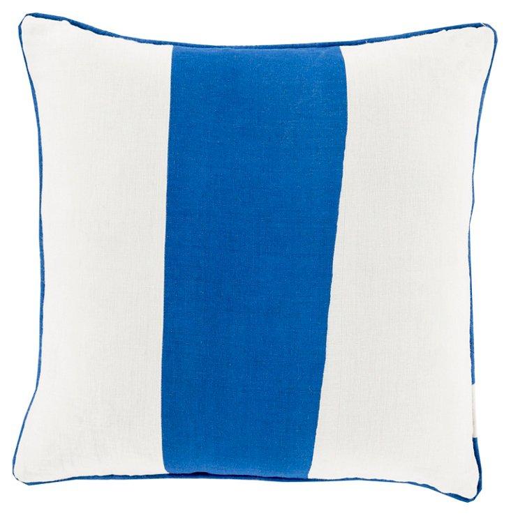 Ocean Linen Pillow, Cobalt