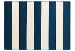 Joao Flat-Weave Rug, Blue