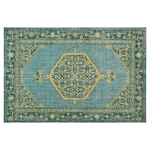 Eloten Rug, Blue/Green