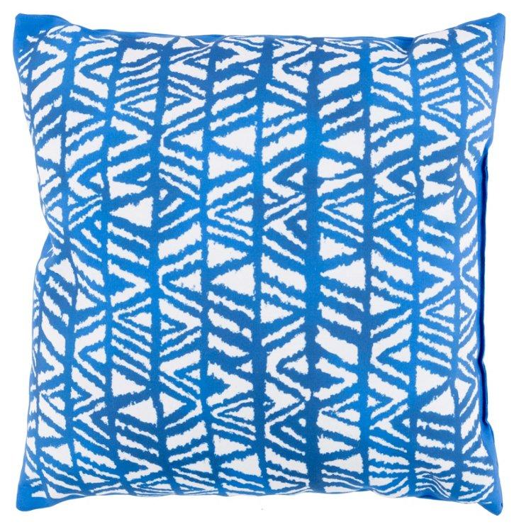 Larni 18x18 Outdoor Pillow, Indigo