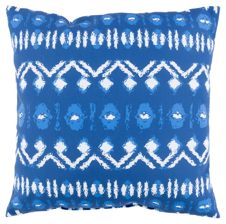 Besio 18x18 Outdoor Pillow, Indigo