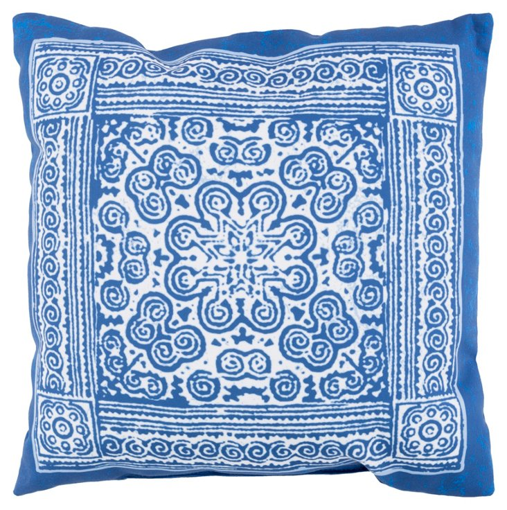 Mirta 18x18 Outdoor Pillow, Indigo