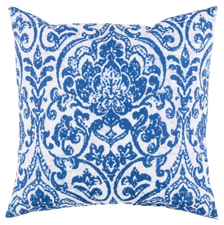 Yolie 18x18  Outdoor Pillow, Indigo