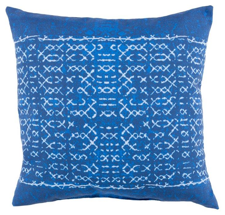 Rae 18x18 Outdoor Pillow, Indigo