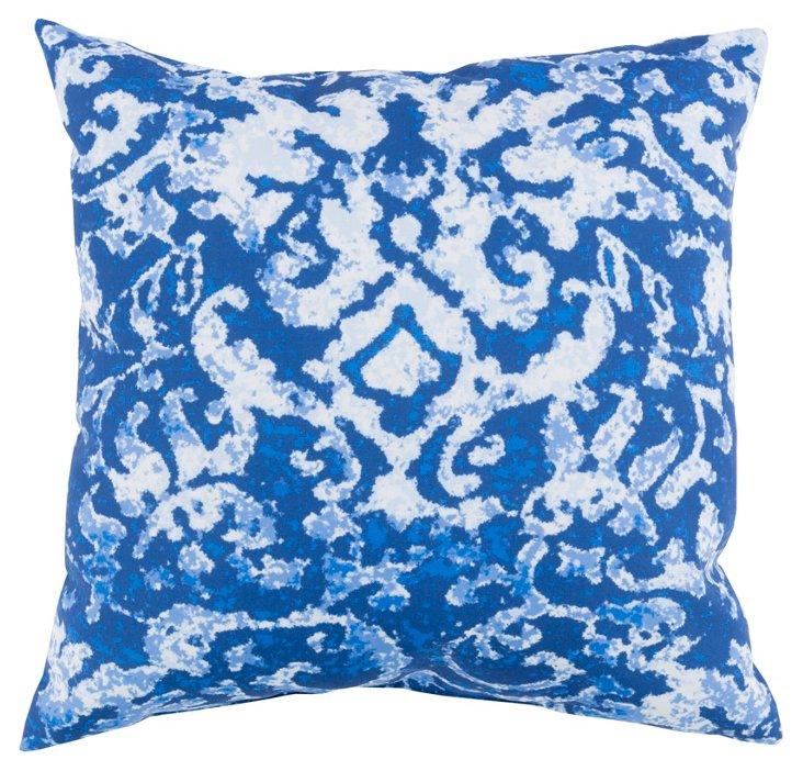 Lerka 18x18 Outdoor Pillow, Indigo