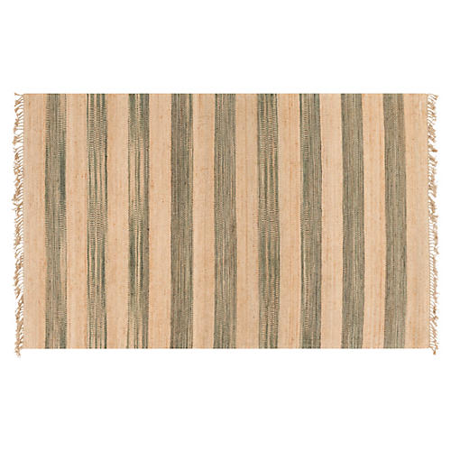 Oleg Jute Rug, Neutral/Green